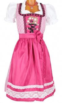 6469 Fuchs süsses 60er Dirndl pink Blumenstick