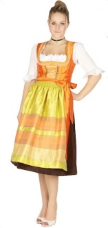 8330 Country Line 70er Dirndl Gr 36 braun orange
