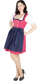 9395 Country Line 50er mini Dirndl Gr 32 pink marineblau