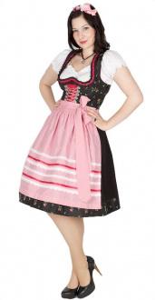 9575 Country Line 60er Dirndl schwarz pink