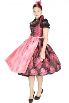 9580 Hofer Dirndl Carmen 70er beere pink