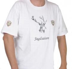 Fox Herren T-shirt in weiss Gr S Jagdsaison