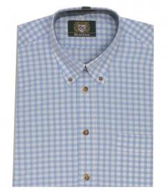 ORB18 Herren Trachtenhemd hellblau karo