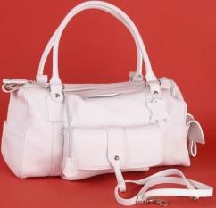 BE79 Damentasche weiß