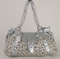 A-0604 Damentasche silber