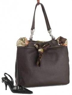 T1206 Leder Tasche Shopper dunkelbraun