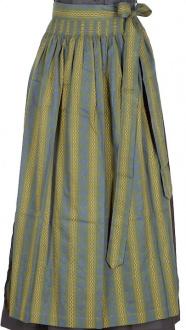 017 Dirndlschürze 95er länge moosgrün Baumwolle
