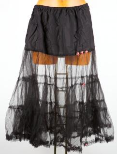 13334 Schmuckstück Petticoat für Dirndl 70cm schwarz Gr  L