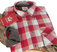 Neufahrn Herren Trachtenhemd chili braun Karo
