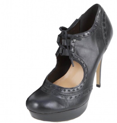 7502 Via Uno High Heels Leder Vitelo Nero