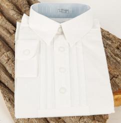 48500 Kinderhemd mit Pford weiß