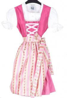 44143 Isar Trachten Kinderdirndl mit Bluse pink grün Gr  80