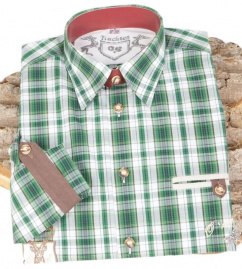 220002-2917/56 Hemd trachtengrün Karo