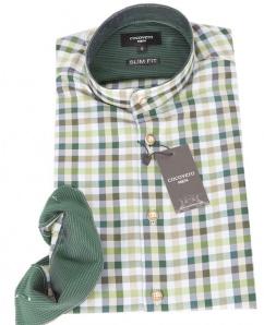Coco Vero Männerhemd Toni grün weiss karo