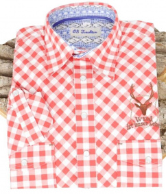 220010-0096/34 Orbis Hemd rot weiß Karo