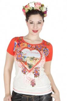 Sportalm T-Shirt Estella creme rot