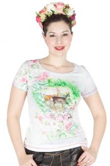 Sportalm T-Shirt Christina mit Hirschmotiv