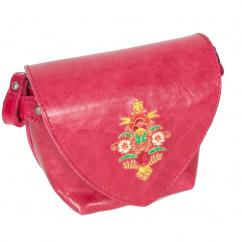DT1361 Trachtentasche mit Blumen Leder