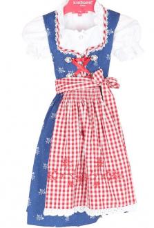 47201 Krüger Kinderdirndl mit Bluse blau rot