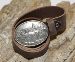 4005 Trachten Ledergürtel Rustic antik bison castagne