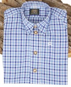 Orbis Kinderhemd 280000-3000 /45 blau karo