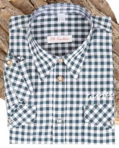 Orbis Kinderhemd 580005 3104/57 dunkelgrün karo