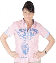 Sportalm Bluse Eslina hellblau-rosa kariert