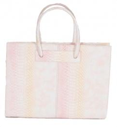 3939 Damen Lederhandtasche in apricot rose pastel