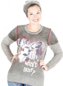 Sportalm Pullover Marylin grau mit Herz