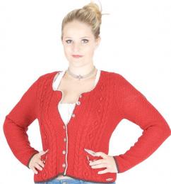 Damen Strickjacke Aida 240690-735/3992 rot braun