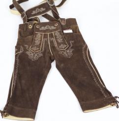 Kniebundlederhose 4214 mit Stegträger Gr 44 antik urig braun