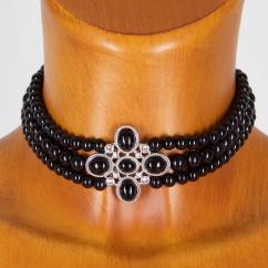 Sweet 7 Perlenkropfband CP 04 schwarz